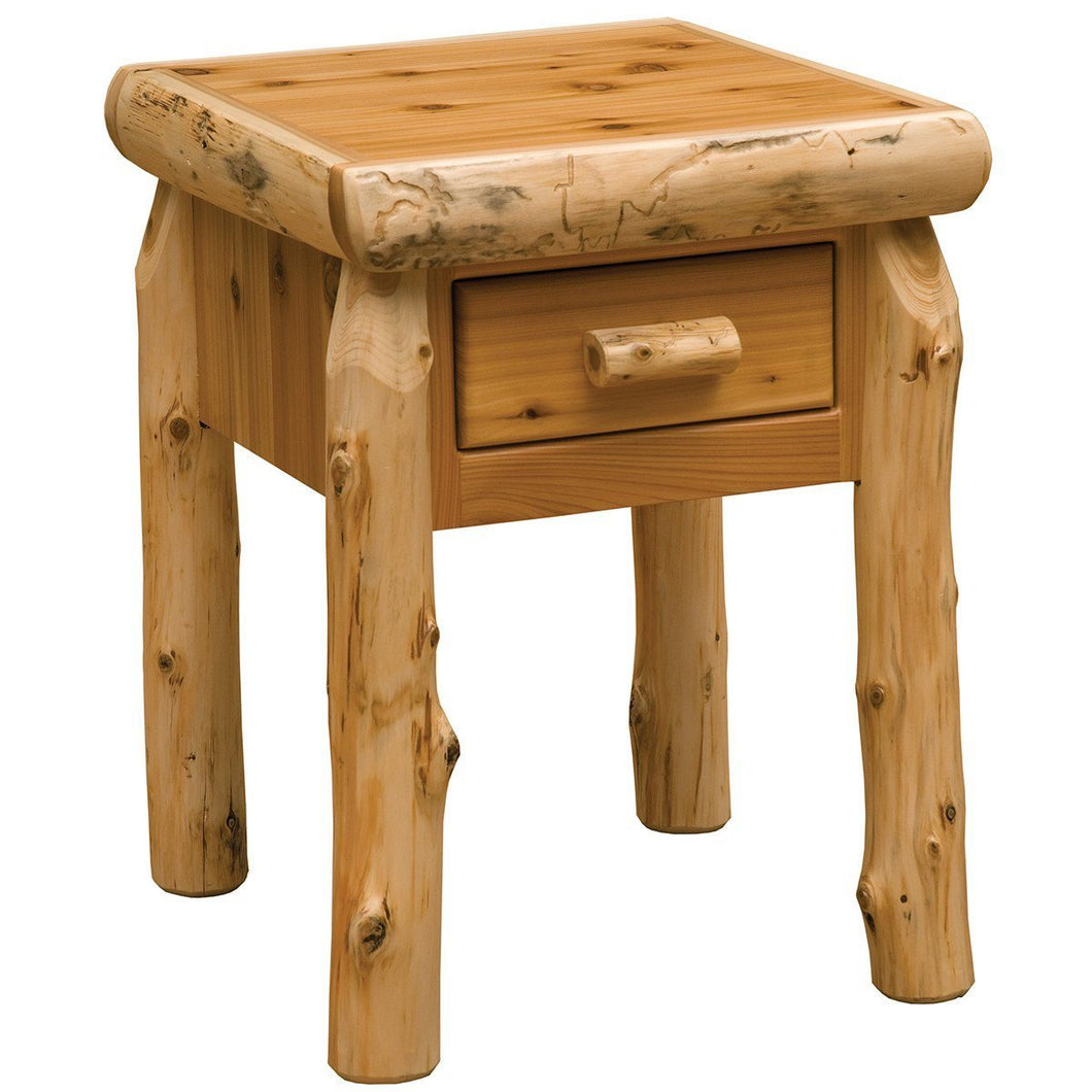 Rustic Traditional Cedar Drawer Nightstand