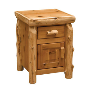 Artistic Traditional Cedar Enclosed Nightstand