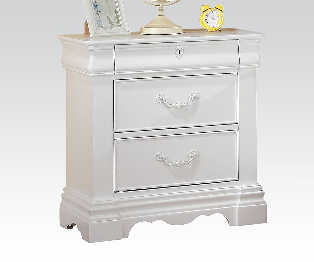 Acme Estrella Girls White -Drawer Night Stand