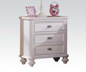 Acme 30009 Athena White Girls 3 Drawer Night Stand