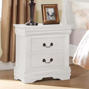 Acme 23833 Louis Philippe White 2 Drawer Night Stand