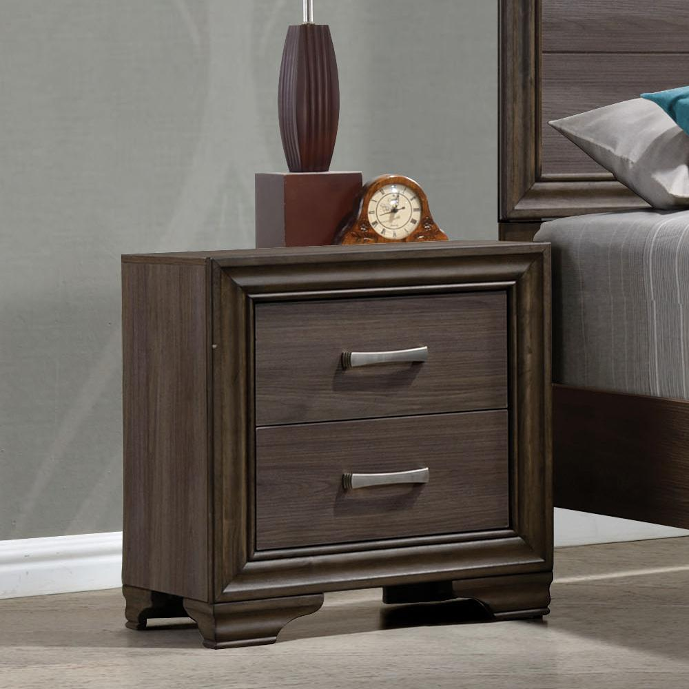 Acme Cyrille Walnut -Drawer Night Stand