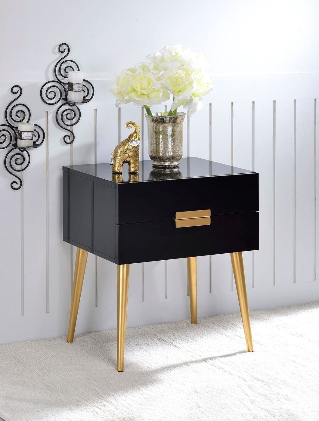 Acme Denvor Black Gold End Table