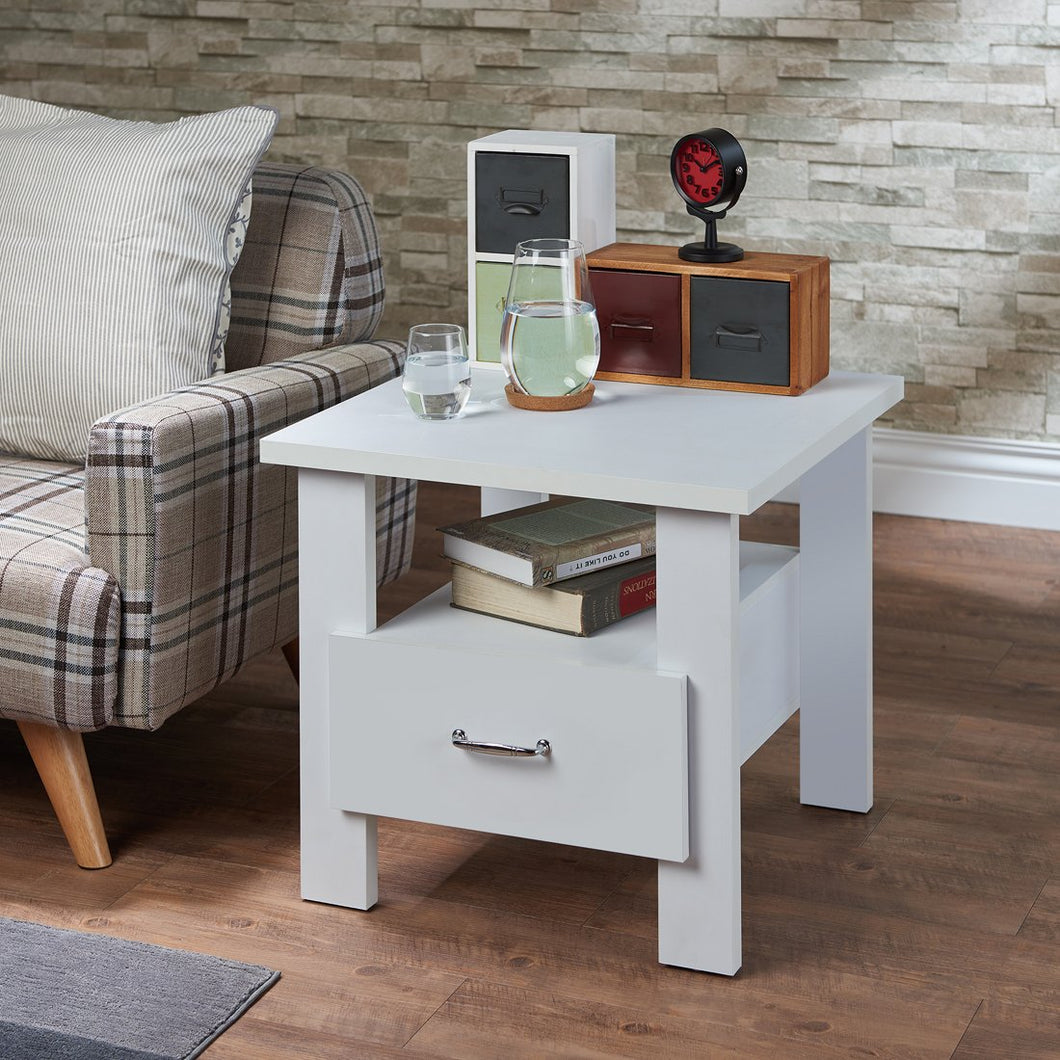 Acme Delano White Drawer Nightstand