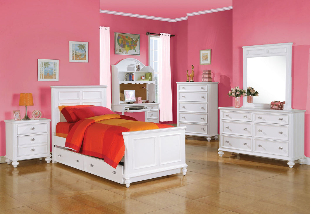 Acme Athena White Girls Twin Trundle Bedroom Set