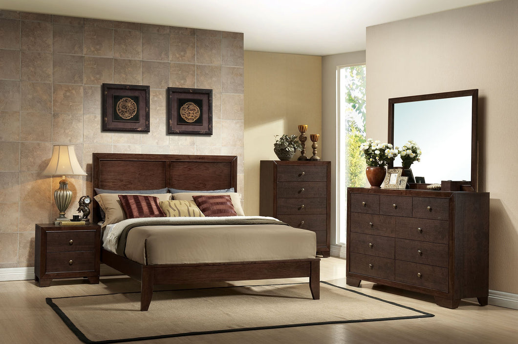 Acme 19570Q Madison 4 Pieces Espresso wood Queen Panel Bedroom Set