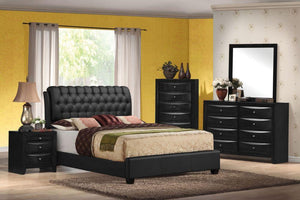 Acme 14350Q Ireland 4 Pieces Black wood Queen Platform Bedroom Set