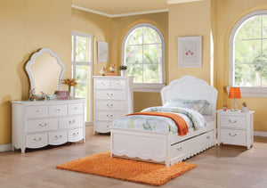 Acme Cecilie White Youth Full Trundle Bedroom Set