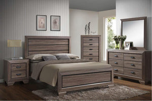 Acme 26020Q Lyndon 4 Pieces Weathered Gray Grain Queen Bedroom Set