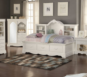 Acme 39150 Estrella White Bookcase Storage Daybed Drawers