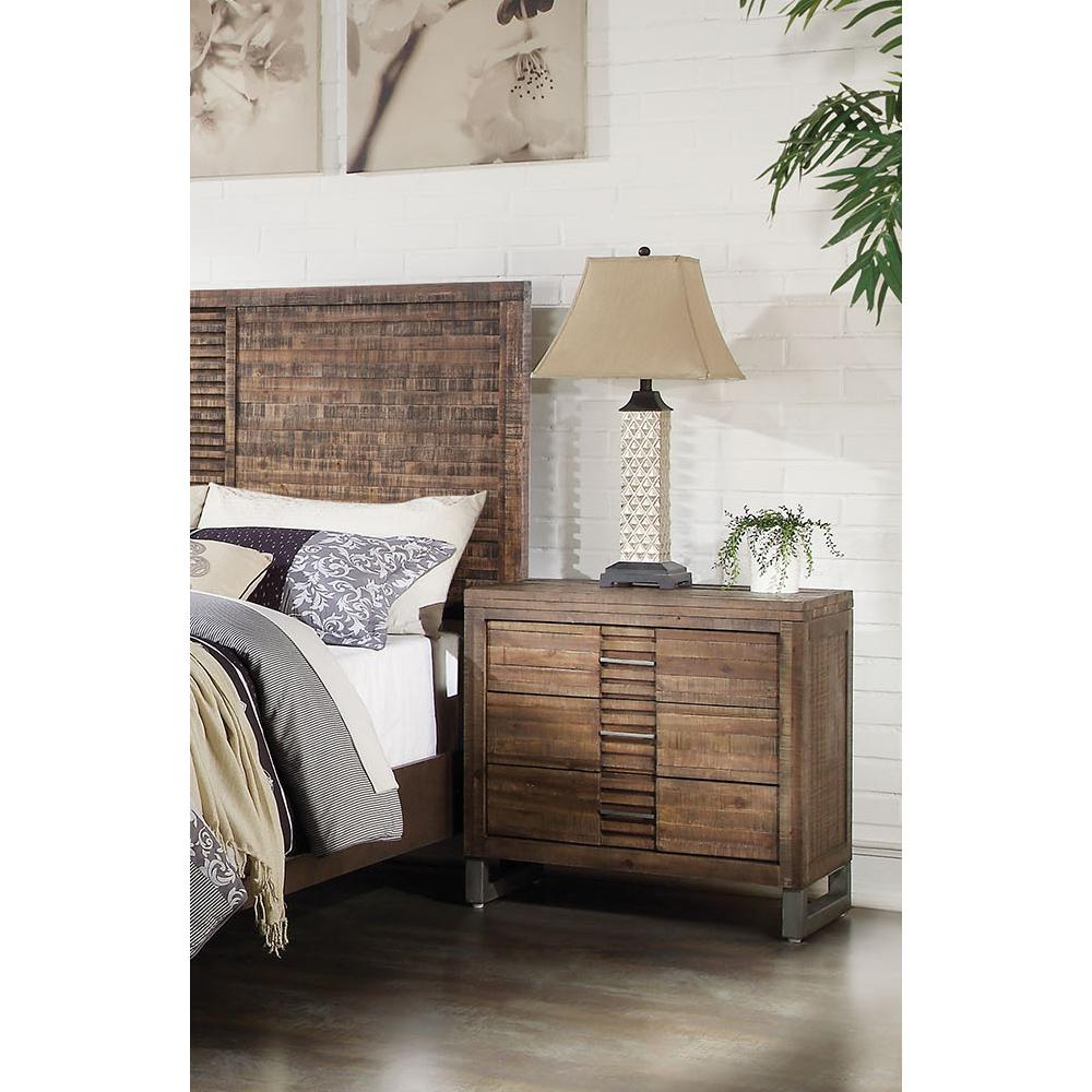 Acme Adria Recllaimed Oak -Drawer Night Stand
