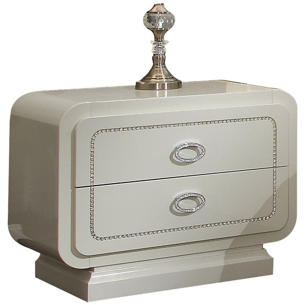 Acme 20393 Ivory Finish Wooden Nightstand