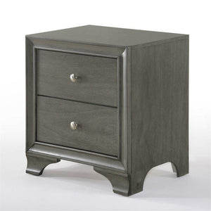 Acme 97492 Blaise 2 Drawer Nightstand In Gray Oak