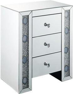 Acme 97028 Sonia Silver Mirrored Finish End Table
