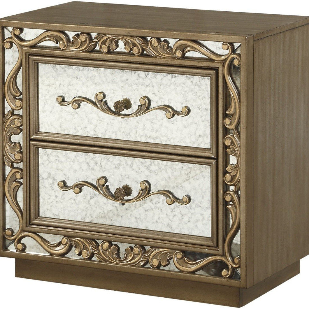 Acme 23793 Orianne Gold Wood Finish Nightstand