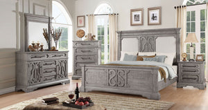 Acme 27084CK Artesia Natural Wood Finish 4 Piece California King Bedroom Set