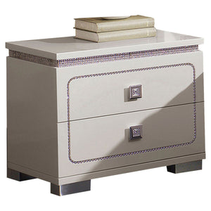 Acme 20253 Valentina Pearl Wood Finish Nightstand
