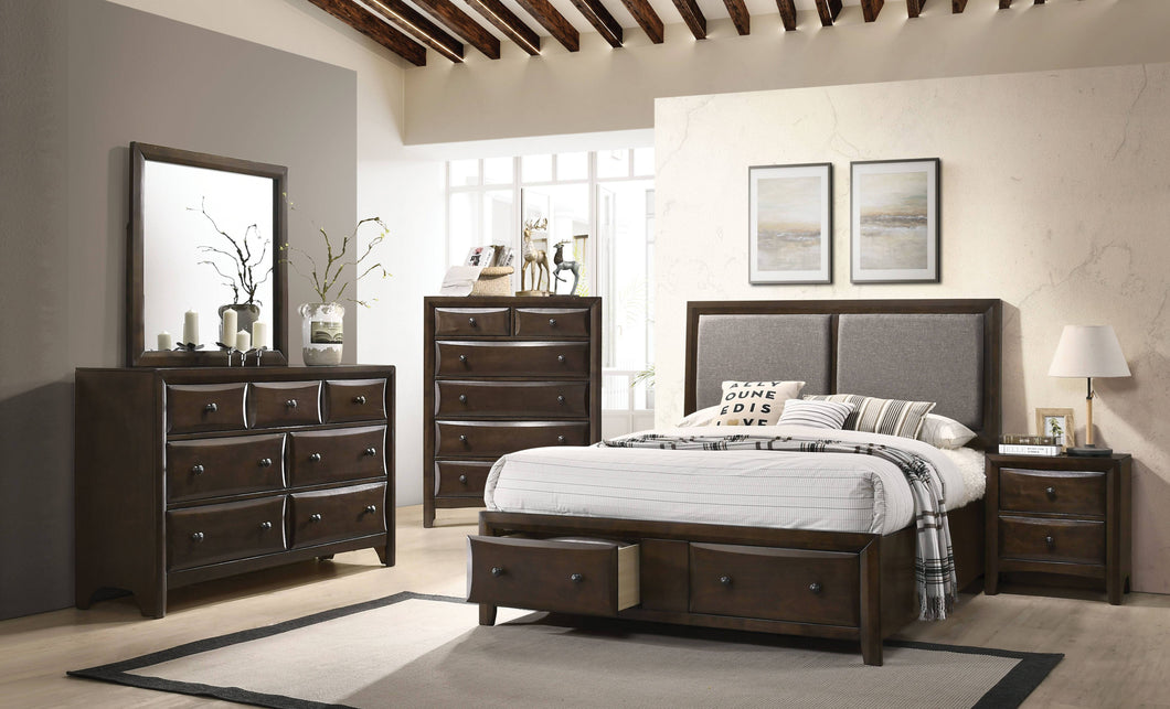 Acme 26667EK Brenta Walnut Wood Finish 4 Piece Eastern King Bedroom Set
