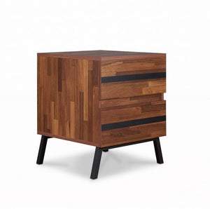 Acme 80622 Karine Walnut Wood Finish Contemporary Nightstand