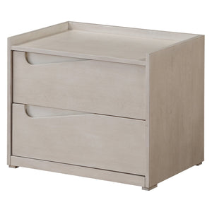 Acme 97528 Yaxley White Wood Finish Contemporary Nightstand