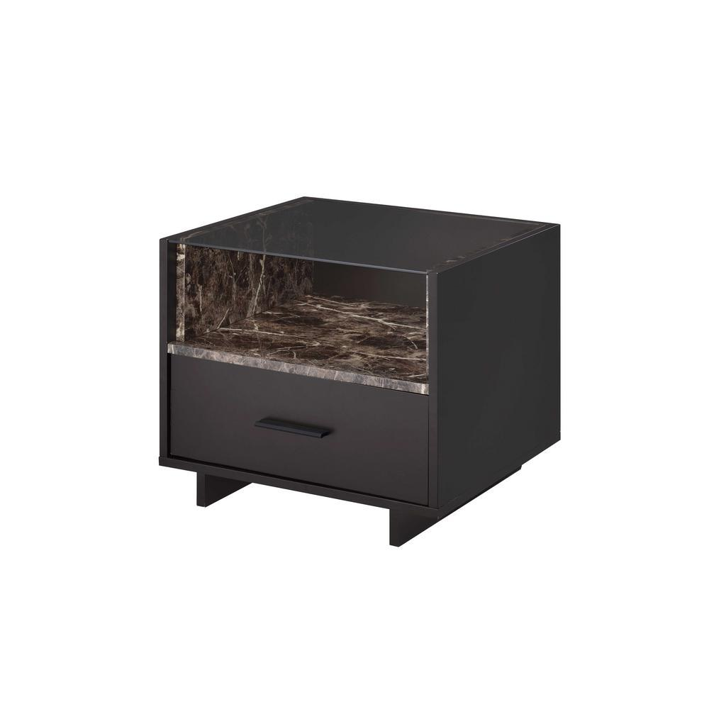 Acme 84621 Dayle Espresso Wood Contemporary Finish Nightstand