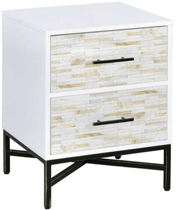 Acme 97451 Uma White Wood Finish Contemporary Nightstand