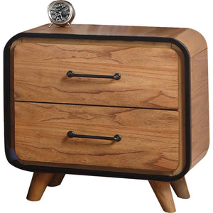 Acme 30763 Carla Oak Wood Finish Contemporary Nightstand