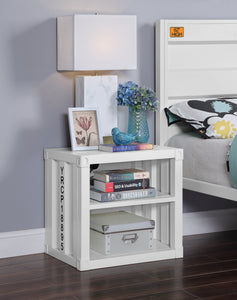 Acme Cargo White Metal Finish Kids Nightstand