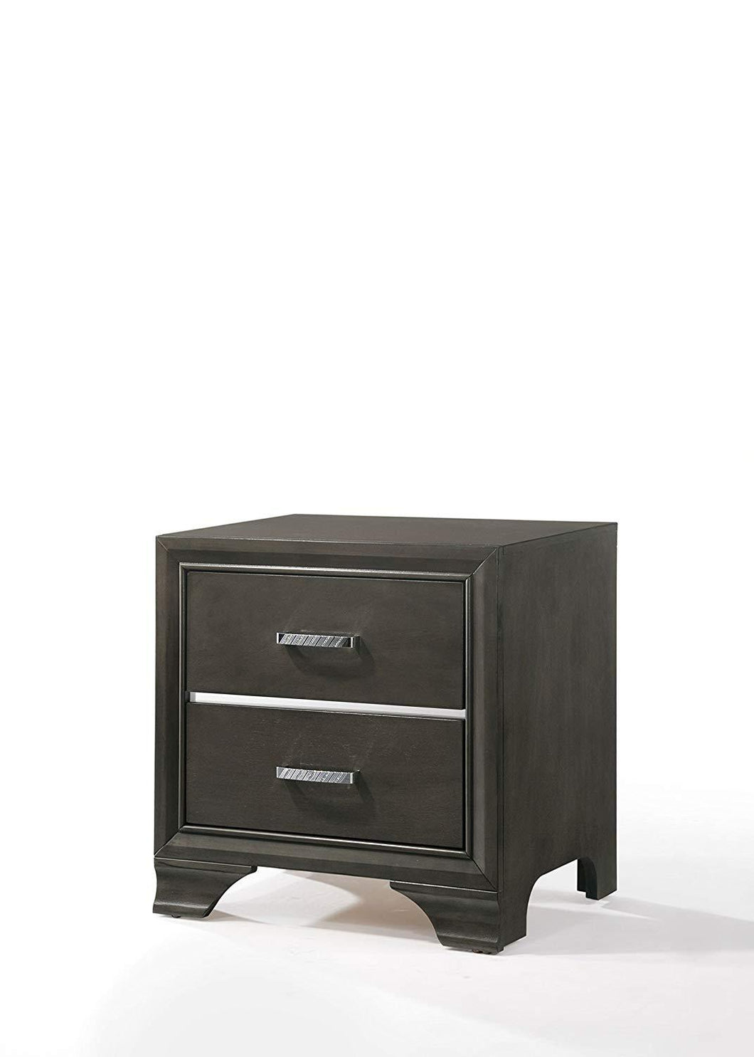 Acme Carine II Gray Wood Finish Nightstand