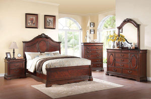 Acme Estrella Dark Cherry Queen Panel Bedroom Set