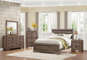 1904F-1 Beechnut 4PCs Contemporary Rustic light Kids Full Bedroom Set