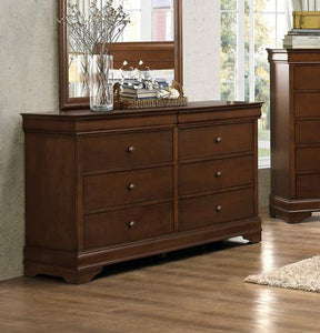 Abbeville Traditional Louis Philippe Brown Cherry Wood Dresser
