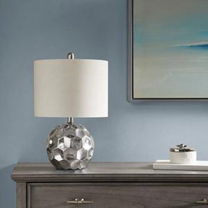 510 Design Frill Table Lamp With Silver Finish 5DS153-0006