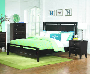 1733K-1CK Verano Modern Rich Espresso Wood California King Sleigh Bed