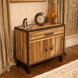 Eero Acacia Wood Storage Hutch