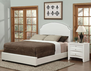 Kristina Collection 2 PC Bedroom Set with King Size Bed + Nightstand in Cream Color