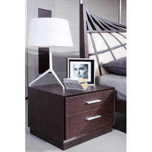 Modern Brown Oak Nightstand