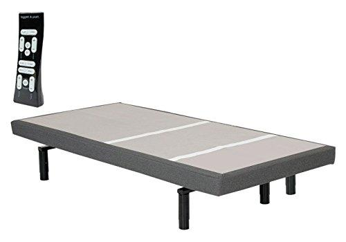 Adjustables by Leggett & Platt Split Adjustable Bed Base, Wireless, Wall-Hugger, Massage, Night Light, Zero Gravity, Anti-Snore, S-Cape, King