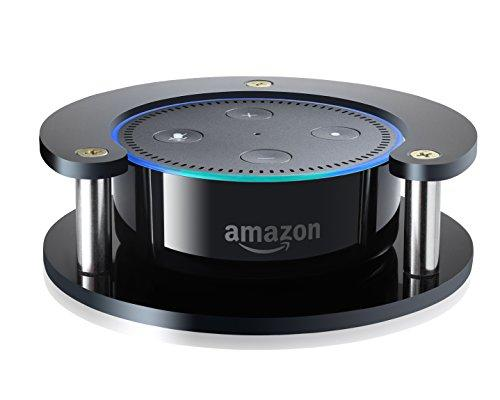 #1 Echo Dot Speaker Stand (Black)  Precision Fit Holder For Enhanced Stability, Protection And Audio Clarity  Lightweight Accessories For Home Or Office