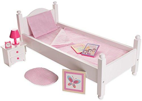 18 Inch Doll Furniture Bed Set w/ Accessories - Playtime by Eimmie Collection