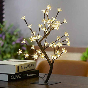 Battery Powered Cherry Blossom Tree Lamp Home Decor Accent Clear flowers Home Decor Accent Sale