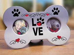 I Love My Dog Picture Frame - Dog Bone Shaped Double Photo Frame(2315)
