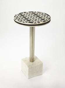 Lindy Bone Inlay Accent Table