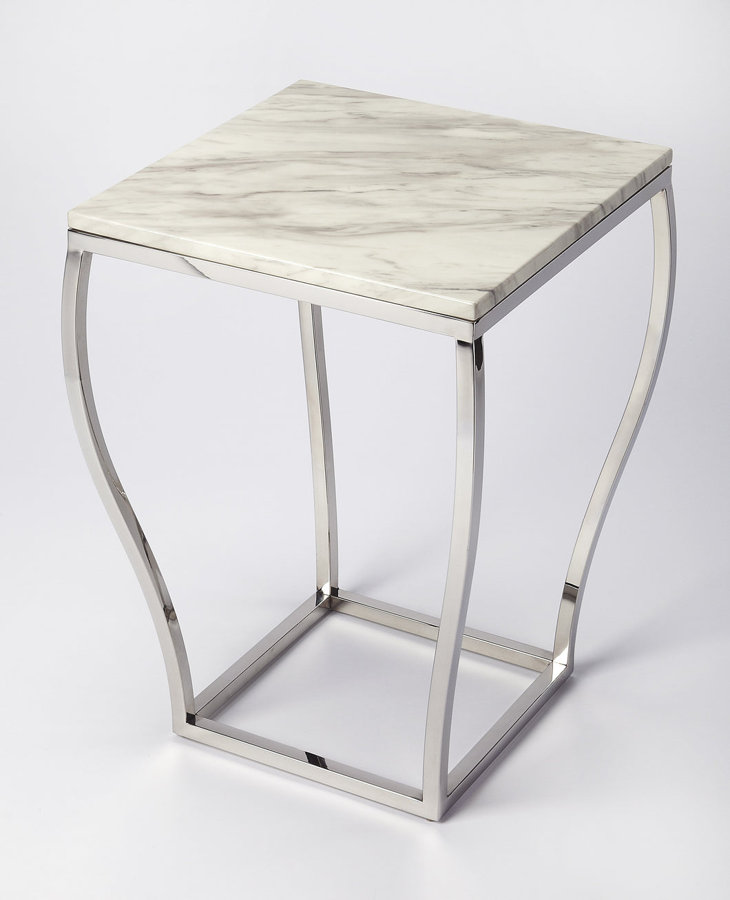 Haley Marble & Metal End Table