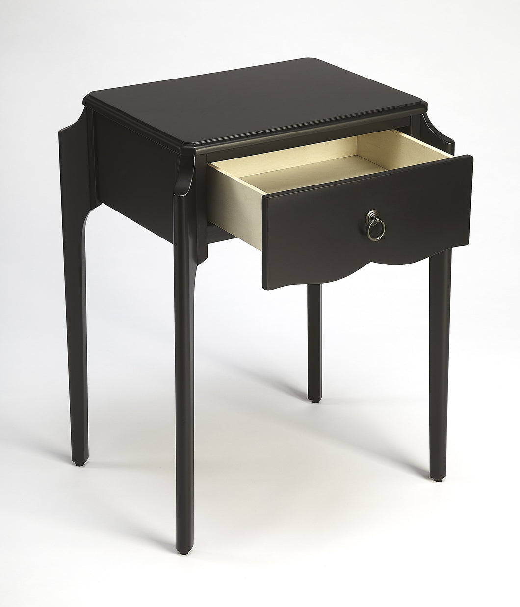 Wilshire Black Nightstand