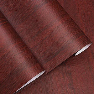 Decorative Faux Wood Grain Contact Paper Vinyl Self Adhesive Shelf Drawer Liner for Bathroom Kitchen Cabinets Shelves Table Arts and Crafts Decal 24x117 Inches