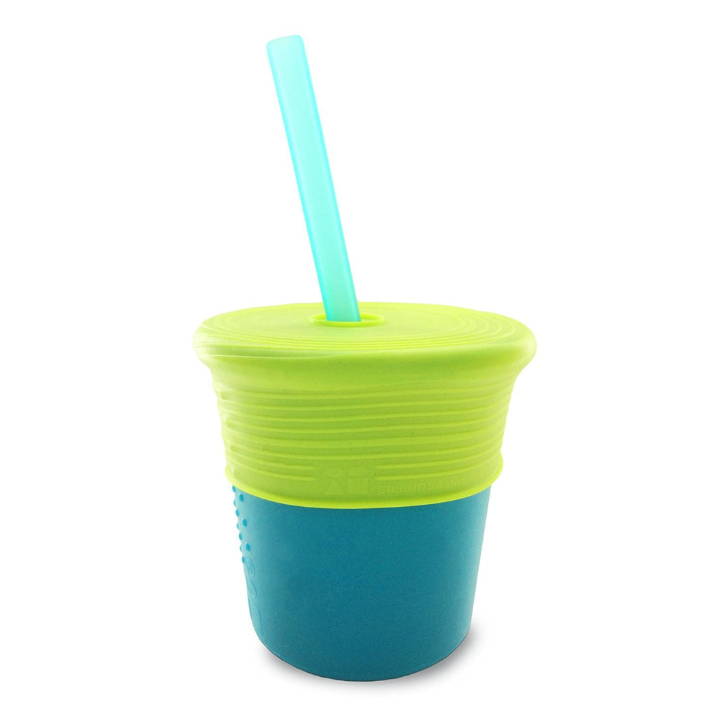 Siliskin Cup, Straw, & Top Set (Teal/Storm)