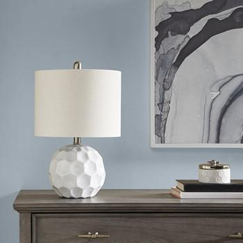 510 Design Frill Table Lamp With White Finish 5DS153-0005