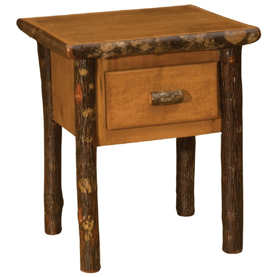 Rustic Maple Hickory One Drawer Nightstand