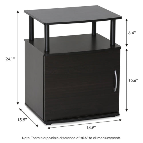 Furinno End Table 15114BKW